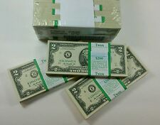 100 UNCIRCULATED  $2 NOTES 2003A-2013 Two Dollar BILLS RANDOM DISTRICTS