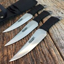 "6"" Defender Set of 3 Cord Wrapped NINJA Samauri Throwing Knife with Sheath 5320"