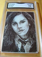 HERMIONE GRANGER HARRY POTTER ARTIST AUTO ACEO PRINT GRADED 10