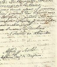 Lettera Vescovo Ranieri Mancini Fiesole Sinodo Vino Pievano di Castiglioni 1801