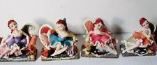 "4 vintage ballerina resin figurines from K's Collection 3.5""x3"""