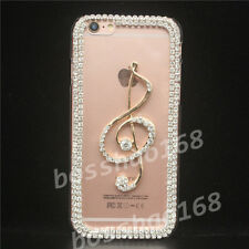 Bling Diamonds Crystal Pearls Thin Clear Soft TPU Back Shell Phone Cover Case Zn