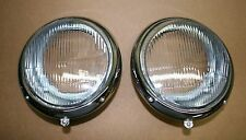 VW Split Oval Bug  -'66 Porsche headlight assembly pair adjusting holes at btm