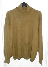 MALO FOR JANET BROWN MENS HEATHER OLIVE GREEN 100% CASHMERE SWEATER XL