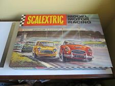 Vintage Box Set 33 Scalextric Model Motor Racing Red & Green Austin Mini Cooper