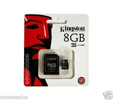 New Kingston 8GB microsd SD SDHC Class 4 Flash Memory Card with SD Adapter