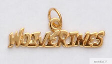 Michigan Wolverines Team Name Necklace Pendant Charm 24k Gold Plated Fan Jewelry