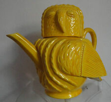 Rare Antique Secessionist Yellow Minton Teapot in the Form of an Owl