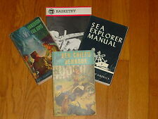 Vintage Boy Scout Book Set  Sea Explorer  Basketry   Handbook  Boys   Den Chief