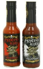 Dr Burnorium Set Of 2 Psycho Juice Extreme Chilli & 70% Ghost Pepper Hot Sauces