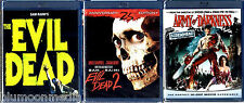 The Evil Dead BLU-RAY Trilogy Collection Lot 1 2 Army of Darkness Set Brand NEW