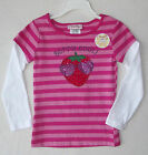 """Fleurish Girl Scents Pink Embellished """"Berry"""" Long Sleeve T-Shirt 4 NWT G82221"""