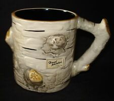 VTG Department Dept 56 Japan BIRCH BARK Ceramic COFFEE MUG TEA CUP Mint Perfect