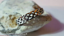 Celtic Plaited TOE RING 925 Silver Adjustable, Celtic Plait Braided Bohemian  c5