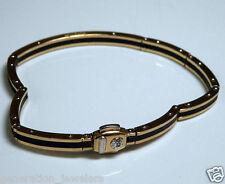 Beautiful 8 Inch Chimento 18K Yellow Gold & Diamond Bracelet Free US Shipping