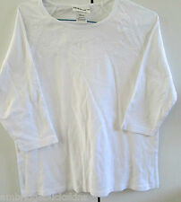 Ladies Millers Size 16 White 3/4 Sleeve Cotton Embroidery Design On Yoke