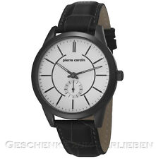 Pierre Cardin Herrenuhr Troca IP anthrazit  Lederband  PC106571F05