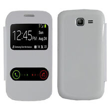 Housse Coque View Case BLANC Samsung Galaxy Trend Lite S7390 Fresh Duos S7392