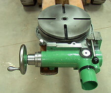 """12""""Rotary Table with forward, neutral, reverse gearbox power drive input+handwhe"""