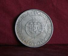 Timor 10 Escudos 1970 World Coin Shield Globe Asia Portugal Indonesia Maltese