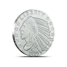 10 - 1/2 oz. 999 Fine Silver Rounds - Incuse Indian Design - Uncirculated