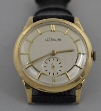 w368   14K GOLD  MENS  HAND-WIND VINTAGE  Le-Coultre  WRISTWATCH