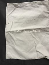 MANOLO BLAHNIK Grey  BAG  Shoes Clutch Wallet Purse Storage Travel 10 X13.5