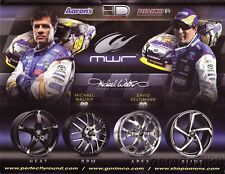 Michael Waltrip/David Reutimann Rimco Wheels Toyota Camry NASCAR SC postcard