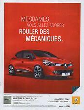 Publicité Advertising 2011  NOUVELLE RENAULT CLIO