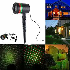 Outdoor LED Moving Laser Stage Light Projector Garden Landscape Xmas Decor Lamp