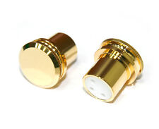 XLR Female Noise Reducing Caps - PTFE (Teflon) Insulation - Gold Plated - 2 pack