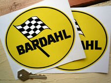 "BARDAHL OIL Oval Style Car STICKERS 6"" Pair Classic USA Race Racing Rally Bike"