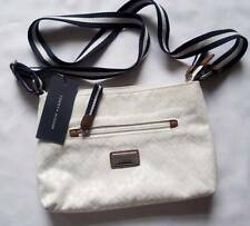 NEW Tommy Hilfiger Women`s Ladies Genuine Print Crossbody White Bag Messenger