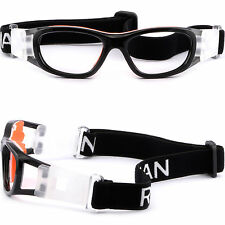 Kids Sports Protection Goggles Prescription Glasses Wrap Around Straps Black