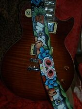 TATTOO Leather Guitar strap asian oni special order 3.5 wide