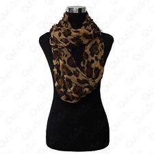 LOT OF WOMEN'S FASHION LEOPARD CHEETAH ANIMAL PRINT WARM INFINITY COWL SCARF