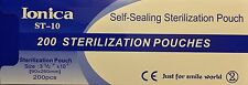 IONICA Self Seal Autoclave Sterilization Pouch with Indicator Strip 200 31/2 x10