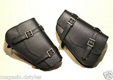 L + R - Lot 2 leather saddlebags for harley sportster forty eight iron nighster