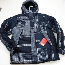 $279 North Face Men's Eldo Down Jacket Medium Urban Navy Print NEW 2016 Issue
