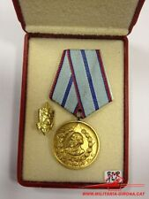BULGARIAN MEDAL 20 YEARS SERVICE IN THE INTERNAL MINISTRY 1stCLASS OLD COAT MVR