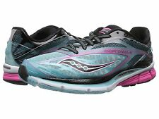 Women's Saucony Cortana 4 Running Shoes (Blue/Pink/Black), Size 8