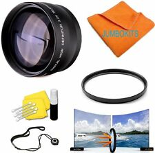 58MM 2X OPTICAL ZOOM LENS +UV FILTER KIT FOR CANON REBEL EOS T3I T4I T5I T6I SL1