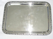 The Waldorf Astoria Hotel NYC, NY  Serving Tray - silver plate 1931