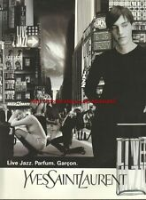 Yves Saint Laurent Live Jazz Fragrance 1996 Mag. Advert #3717