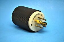 Used Hubbell L21-20P Twist Lock Male Plug 20Amp -120/208Volt 3ØY 4-Pole 5-Wire