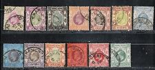1904-11 British colony Hong Kong stamps, Shanghai cancelled, 2c to $1 used MCCA