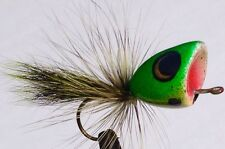 """3 Jamison Lure & Fly Co. """"Liam's Frog"""" Fly Rod Poppers For Big Bass #2 Size Hood"""