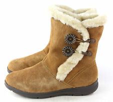 White Mountain Women's Trip Lined Suede Winter Snow Boot Chestnut Brown Size 7 M