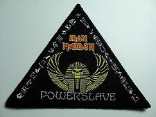 IRON MAIDEN POWERSLAVE TRIANGULAR    WOVEN  PATCH
