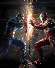 "(2016) Captain America 3: Civil War Movie Silk Fabric Poster 19""x24"" Iron Man"